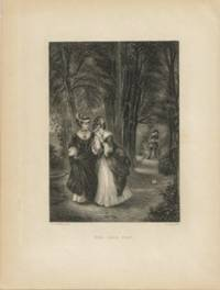 image of The Love Tiff Original Engraving from Gallery of Famous Painters