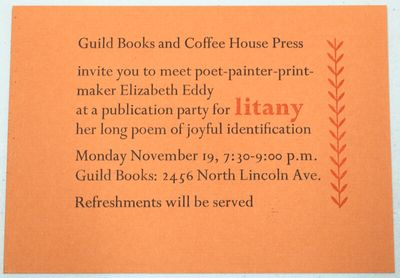 : Coffee House Press, n.d., 1984. 5