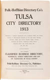 View Image 2 of 3 for POLK-HOFFHINE DIRECTORY CO'S TULSA CITY DIRECTORY 1913 Inventory #WRCAM55880