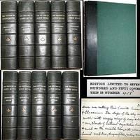 1916 THE WRITINGS OF JOHN MUIR 10 VOLUME SET LEATHER MANUSCRIPT EDITION #418 of 750 COPIES 114 ILLUSTRATIONS