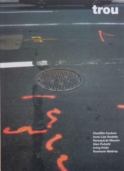Switzerland: Editions De La Prevote, 2008. First edition. Paperback. Fine. Tall paperbound quarto. T...