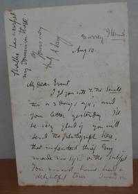 2 AUTOGRAPH LETTERS SIGNED.  ( HOLOGRAPH, ALS ). by LANG, Andrew.: