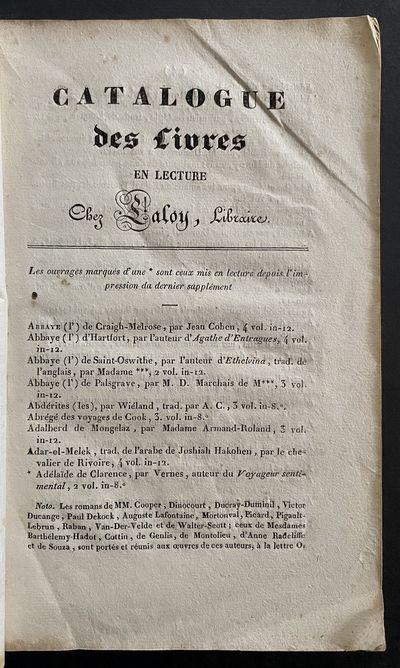 Catalogue Des Livres En Lecture Chez...