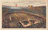 The Main Arena, Municipal Auditorium, Kansas City, MO, 1942 used linen Postcard