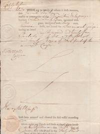 1802 Cargo Document from the Port of Nassau. Cleared for export on the ship Brigantine Enterprize