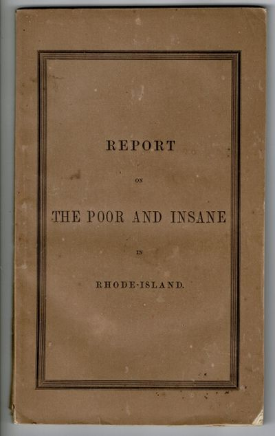 Providence: Joseph Knowles, state printer, 1851. First edition, 8vo, pp. -119, ; engraved frontispie...