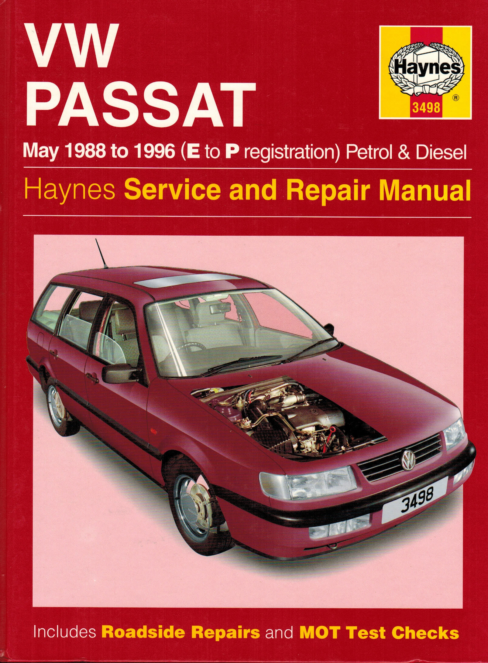 VW Passat Petrol and Diesel (May 1988-96 E to P registration) Service and  Repair (Haynes Service & Repair Manual 3498) by R. M. Jex; I. M. Coomber ...