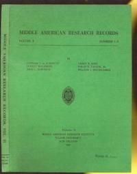 Middle Americn Research Records, Volume II, Numbers 1-8