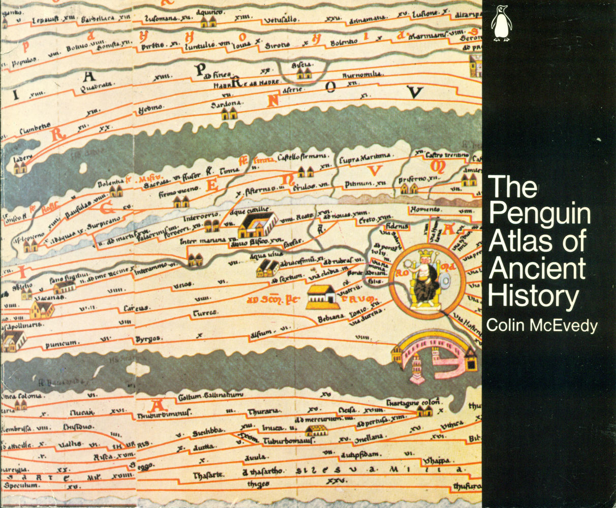 Penguin Book Cover History : The penguin atlas of ancient history by colin mcevedy