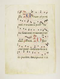 FROM AN EXTREMELY LARGE ANTIPHONER IN LATIN