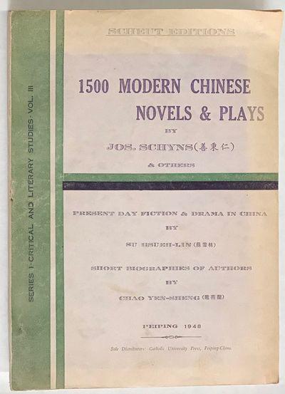Peiping: Catholic University Press, 1948. iv, lviii, 484 pages; paperback, pages toned, minor handli...