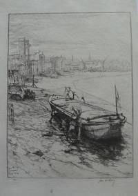 'Repairing the Barge'    Etching by McBey