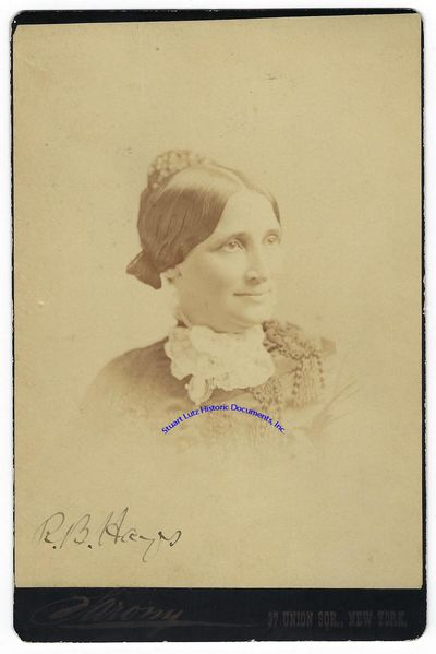 """RUTHERFORD B. HAYES (1822-1893). Hayes was the Nineteenth President. PS. 4 ¼"""" x 6 ½"""". N.d. N.p..."""