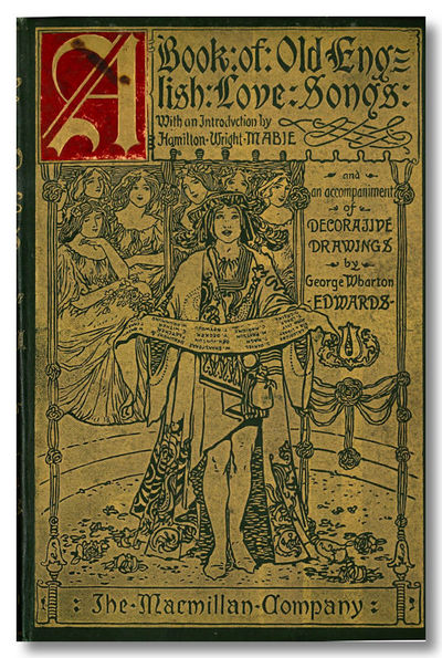 New York: Macmillan, 1897. Slate cloth, with upper board and spine heavily gilt, with inset red moro...