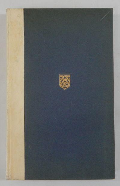 Berkshire: The Golden Cockerel Press, 1924. Limited edition. Hardcover. Very good. 8vo. Vellum spine...
