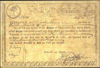 image of No. 2984. Received of Timothy Skinner the Sum of ten pounds for the use and service of the State of Massachusetts Bay...to repay by the First Day of March A.D. 1782 the aforesaid Sum of with Interest Annually at Six per Cent per Annum...drafted October 16, 1778