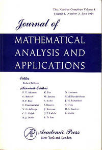 Journal of Mathematical Analysis and Applications - Volume 8, #3