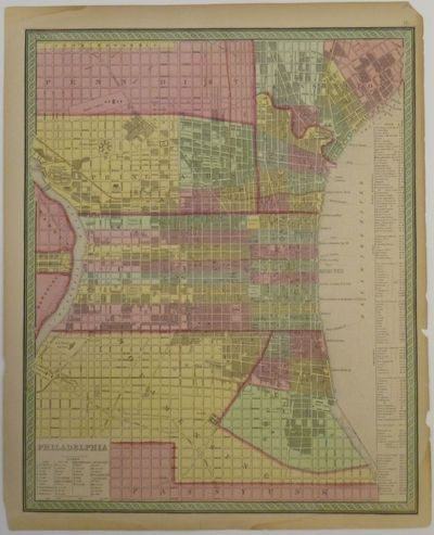 Philadelphia: Mitchell, Samuel Augustus, 1853. unbound. Map. Engraving and lithograph with original ...