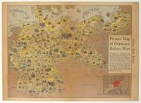 Picture Map of Germany Before War. Published in the Chicago Daily Tribune, Monday March 12 1945.