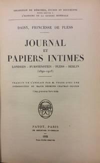 JOURNAL ET PAPIERS INTIMES. LONDRES - FURTENSTEIN - PLESS - BERLIN (1892-1918).