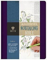HCSB Illustrator's Notetaking Bible, Purple Linen