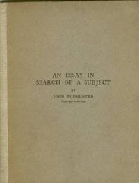 An Essay in Search of a Subject