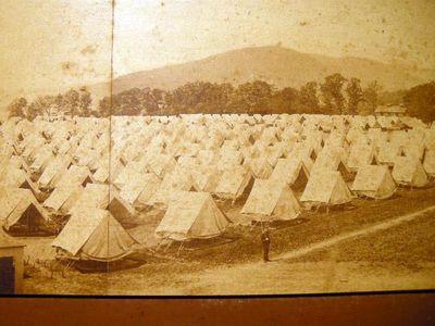 Abaa Circa 1865 Military Tent Encampment Panoramic Photograph By