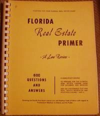 Florida Real Estate Primer by no author noted - Paperback - Fifth Revised - 1972 - from Hastings of Coral Springs (SKU: 1440)
