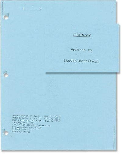 N.p.: N.p., 2014. Draft script for the 2016 film. With copied hole shadows, but made from a master. ...