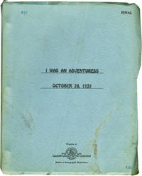 image of I Was an Adventuress (Original screenplay for the 1940 film)