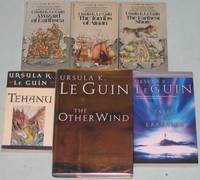"""Earthsea (6 book series):  1. A Wizard of Earthsea; 2. The Tombs of Atuan; 3. The Farthest Shore; 4. Tehanu;  5. Tales from Earthsea; 6. The Other Wind ;  -(six volumes # 1, 2, 3, 4, 5, 6, in the """"Earthsea """" series)-"""