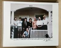 PHOTO OF PETER ORLOVSKY, LAWRENCE FERLINGHETTI, WILLIAM S. BURROUGHS, GREGORY CORSO, PHILIP WHALEN, ALAN GINGSBURG, CARL SOLOMON & ROBERT FRANK: Boulder, CO 1982 [Signed by Aronson and numbered 3 of a limited edition of 10]