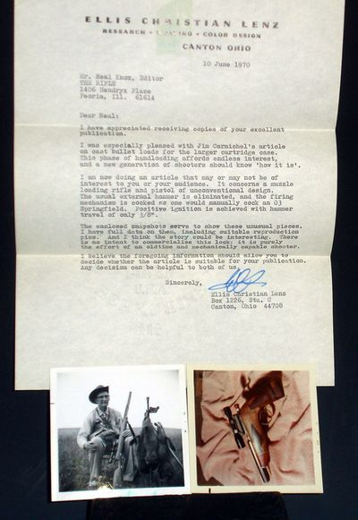1 typed letter signed from Ellis Christian Lenz (whose book Muzzle Flashes became a classic). This l...
