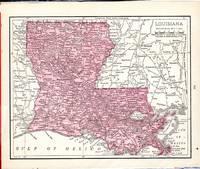 image of MAP: 'Louisiana'...from Rand McNally's Dollar Atlas of the World