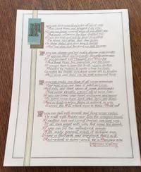 IF. Calligraphic manuscript.