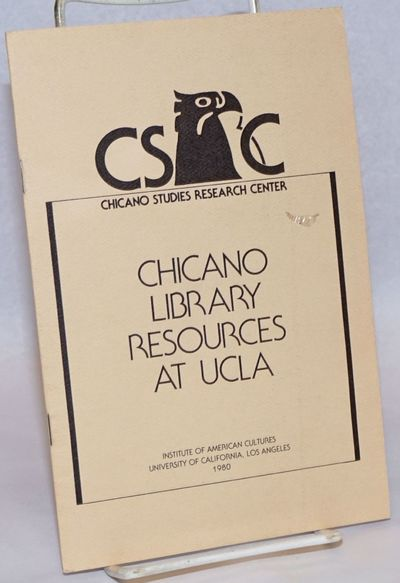 Los Angeles: Chicano Studies Research Center, 1980. 13p., 5.5x8.5 inches, very good first edition bo...