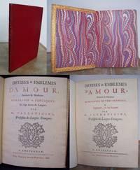 DEVISES & EMBLEMES D'AMOUR, Ancienes & Modernes moraliseez en vers francois, & expliquees, en sept langues par Mr. Parravicini,  Professeur des Langues Etrangeres.