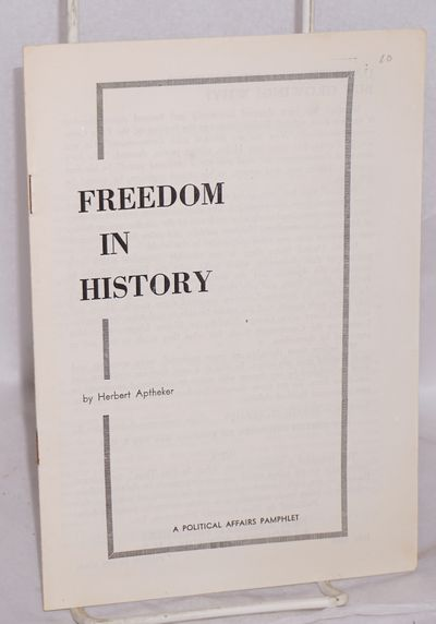 New York: New Century Publishers, 1958. Pamphlet. 14p., wraps, 5.25x7.5 inches, very good condition....