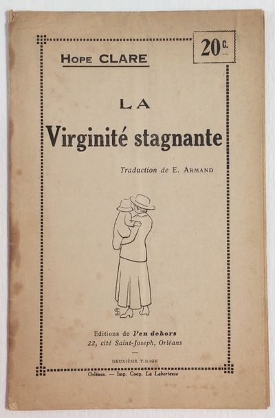 Orléans: L'en Dehors, 1937. 8p., staplebound pamphlet, second edition; some stains to left edge, ...