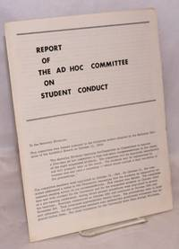image of Report of the Ad Hoc Committee on Student Conduct