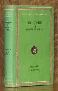 PROCOPIUS II - HISTORY OF THE WARS BOOKS III - IV [THE VANDALIC WAR] - Loeb Classical Library LCL 81