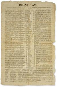 "Direct Tax, [New Hampshire: S.n, c.1807], 18"" x 11"" broadside"
