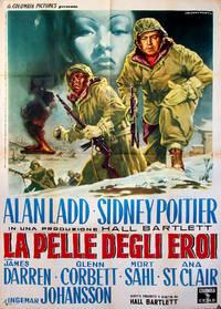 ALL THE YOUNG MEN [LA PELLE DEGLI EROI] (1960) Italian poster