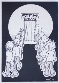 Poster: Stemlokaal [Polling Station] by OZ - n.d. but ca. 1977] - from Lorne Bair Rare Books and Biblio.com