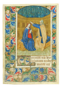 Coronation of the Virgin, miniature from a Book of Hours.