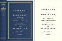A Summary of the Roman Law, Taken from Dr. Taylor's Elements of the..