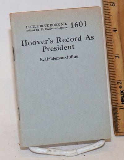 Girard, KS: Haldeman-Julius Publications, 1932. 64p., very good in wraps, 3.5x5 inches. Little Blue ...