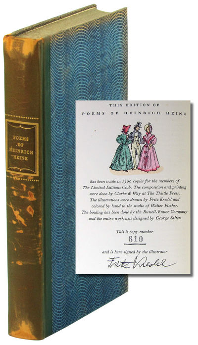 LA: Limited Editions Club, 1957. Hardcover. Very Good. #610 of 1500cc signed by the illustrator Frit...
