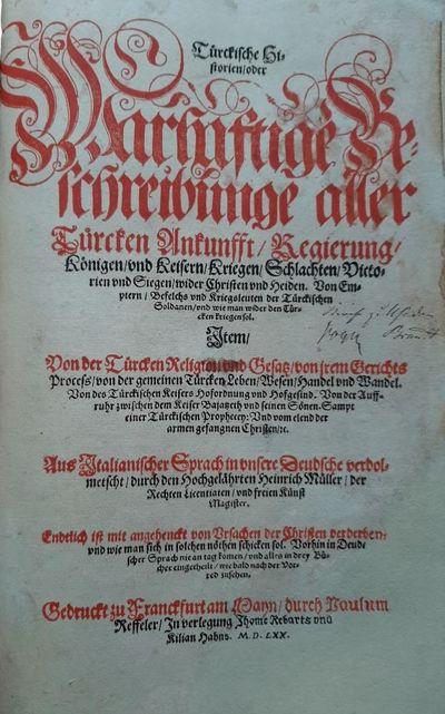 Türckische Historien 1570;...