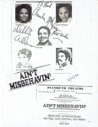 "IN-PERSON AUTOGRAPHS. Original autographs by the American actresses Armelia McQueen and Debbie Allen, the dancer & choreographer who is best known for her work on the television series ""FAME"""